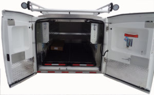 internal view of fiberglass unit with additional options